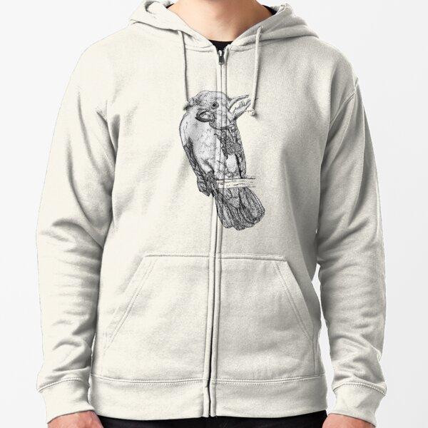Frisky the Cockatoo Zipped Hoodie