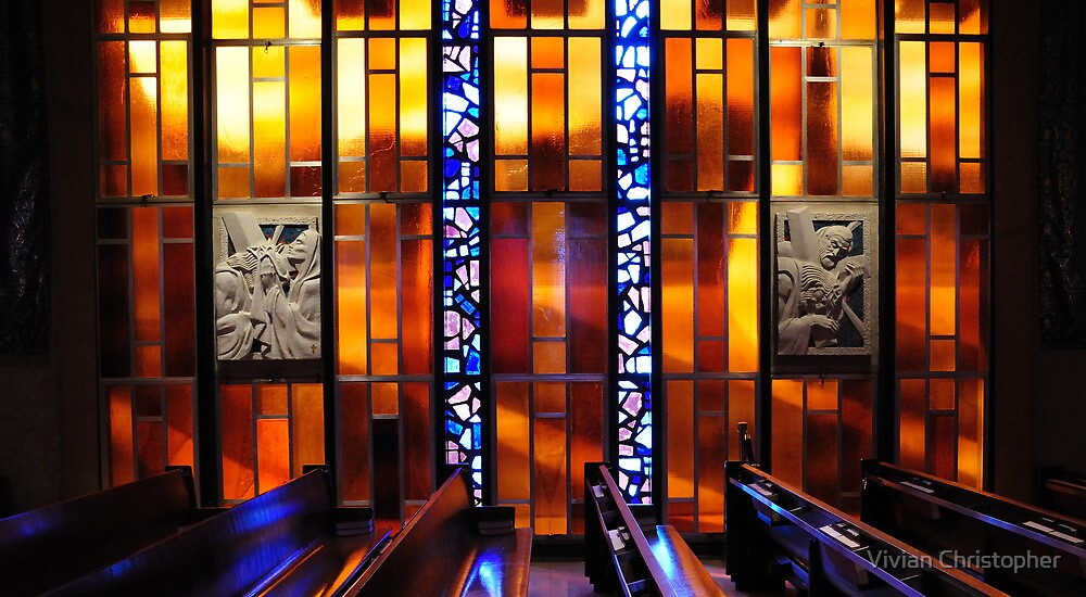 United States Air Force Academy Cadet Chapel Detail by Vivian Christopher
