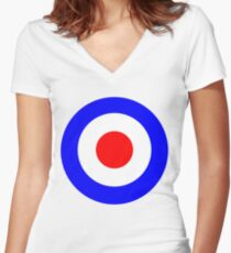 Tank Girl (Booga's Bullseye) Women's Fitted V-Neck T-Shirt