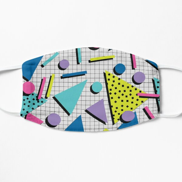 Totally Tubular! Retro 80s Memphis Style Inspired Geometric Print Mask