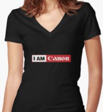 I AM CANON - Camera Shirt Women's Fitted V-Neck T-Shirt