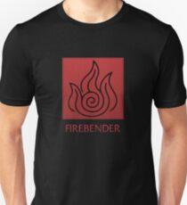 Firebender (with text) T-Shirt
