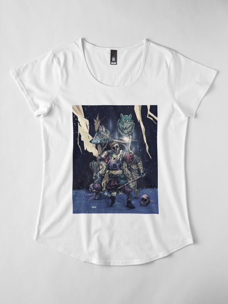 Alternate view of throne. Premium Scoop T-Shirt