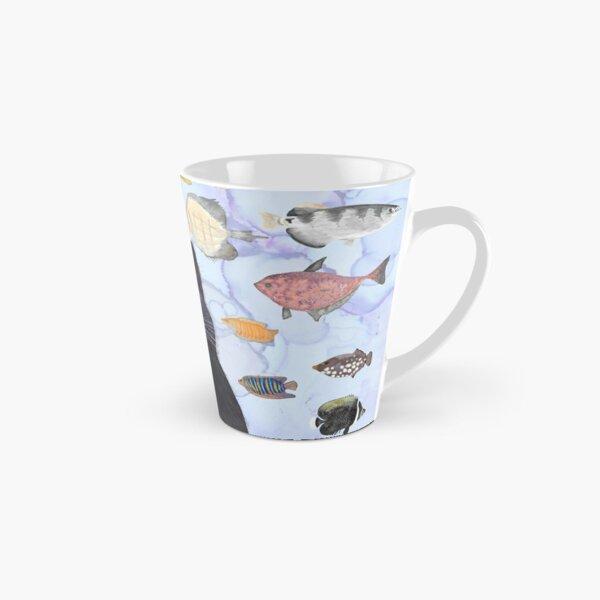 The Hungry Black Cat Gazing at a Fish Tank Tall Mug
