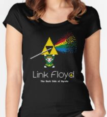 Link Floyd: the Dark Side of Hyrule Women's Fitted Scoop T-Shirt