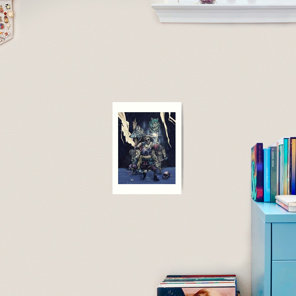 throne. Art Print