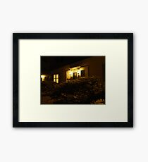 A Warm Hearth Awaits Framed Print