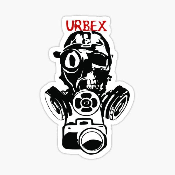 Urban Exploration UrbEx Gas Mask Skull Sticker