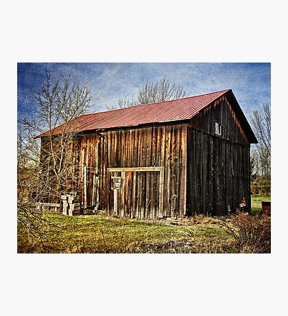 The old wooden barn Photographic Print