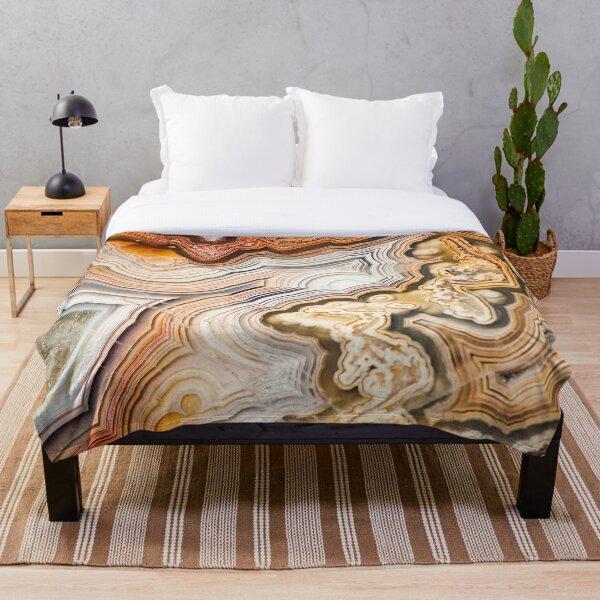 Geode Agate  Throw Blanket