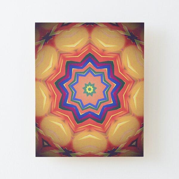 Here Comes the Sun Mandala Art - Yoga Lover Gift Wood Mounted Print