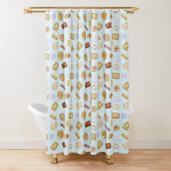 british biscuits Shower Curtain