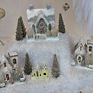 A Christmas Village In The Snow by Jane Neill-Hancock