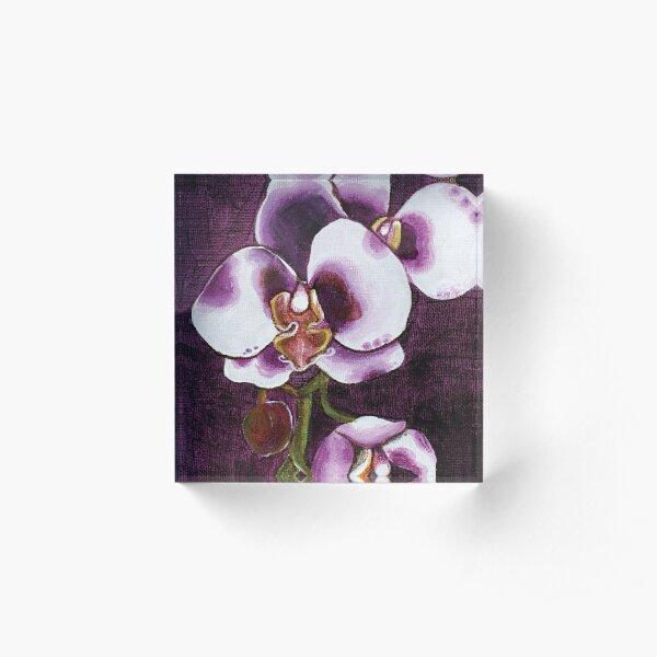 Harlequin Phalaenopsis Orchid Acrylic Block
