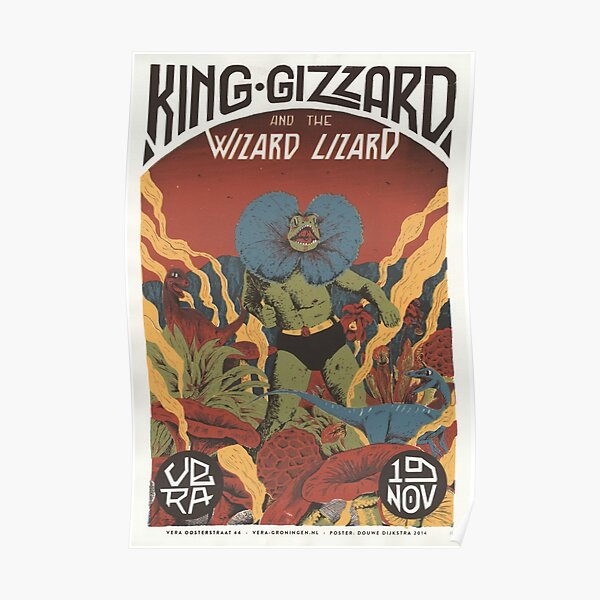 Cartel de la gira King Gizzard and the Lizard Wizard Póster