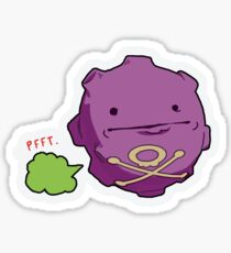Koffing Poker Face Meme Sticker Sticker