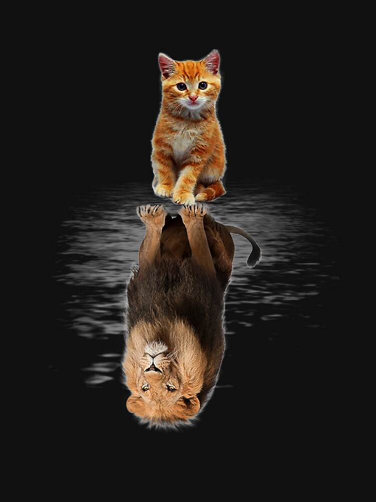 Funny Cat  , Kitten Cat and Lion Mirror by OzkutHalman