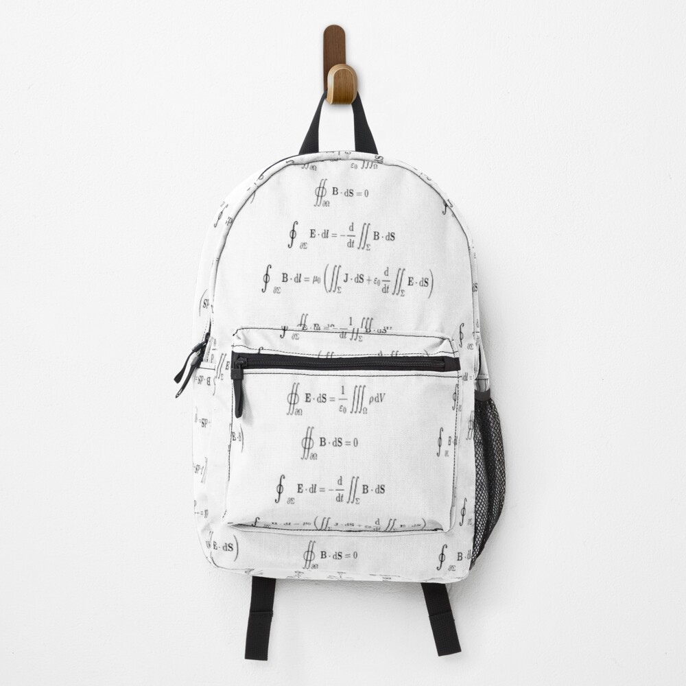 Maxwell's equations, #Maxwells, #equations, #MaxwellsEquations, Maxwell, equation, MaxwellEquations, #Physics, Electricity, Electrodynamics, Electromagnetism Backpack
