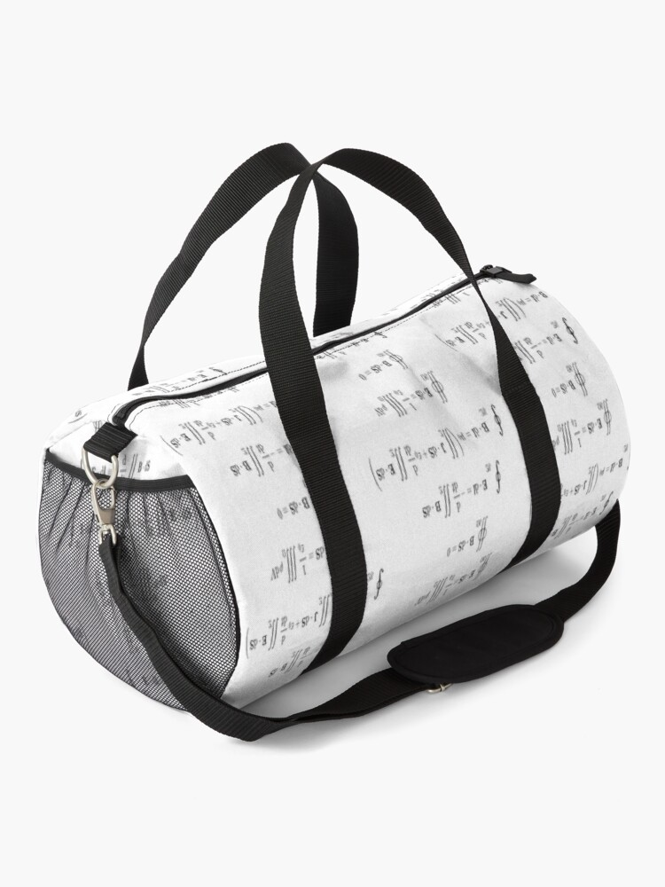 Alternate view of Maxwell's equations, #Maxwells, #equations, #MaxwellsEquations, Maxwell, equation, MaxwellEquations, #Physics, Electricity, Electrodynamics, Electromagnetism Duffle Bag