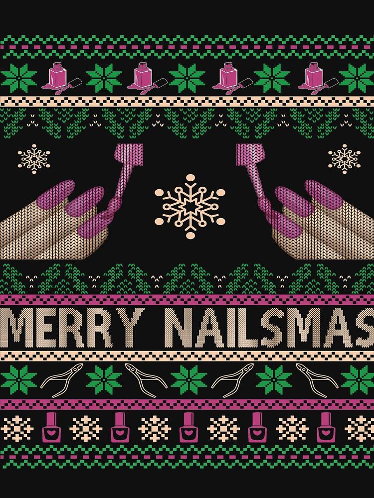 Merry Nailsmas Ugly Sweater by Papagana