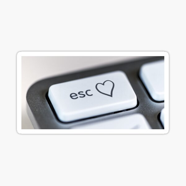 Eurovision Keyboard Heart Sticker