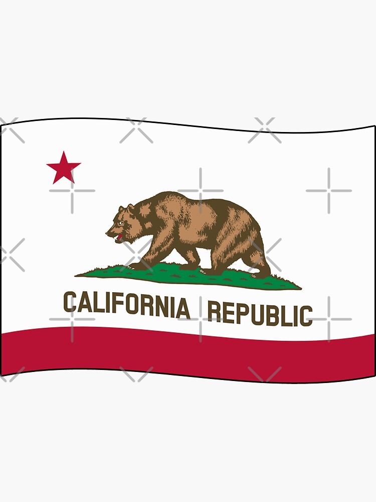 California CA Official State Flag (Ripple Wave) by states
