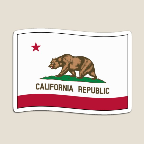 California CA Official State Flag (Ripple Wave) Magnet