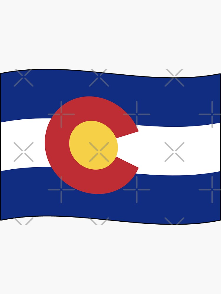 Colorado CO Official State Flag (Ripple Wave) by states