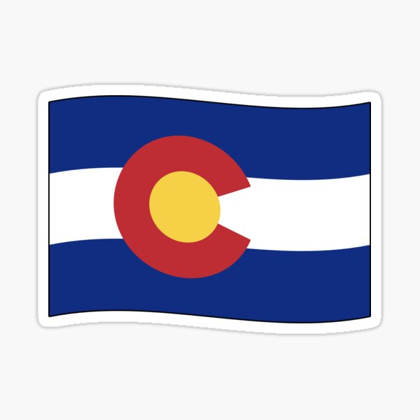 Colorado CO Official State Flag (Ripple Wave) Sticker