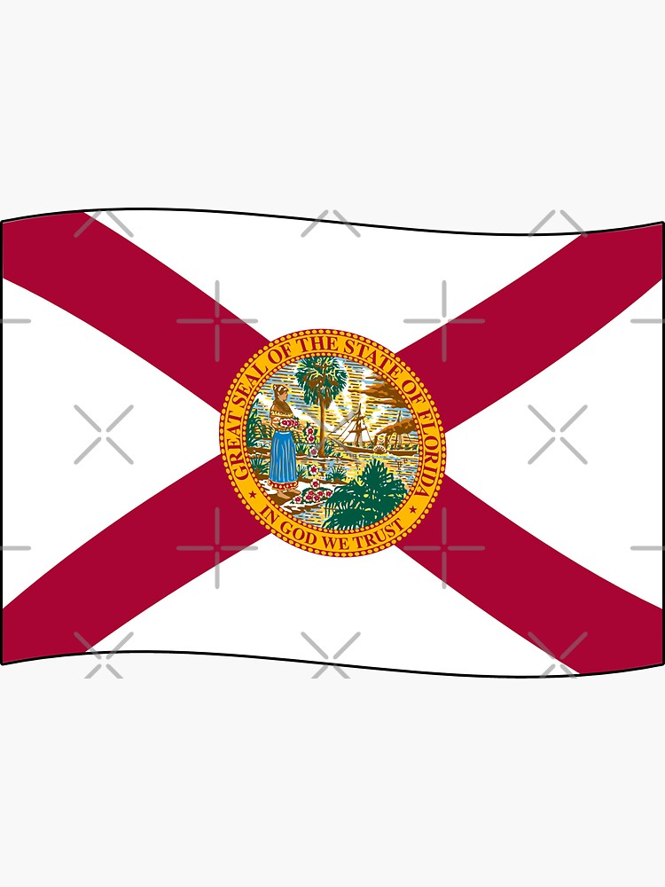 Florida FL Official State Flag (Ripple Wave) by states