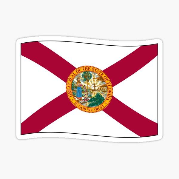 Florida FL Offizielle Staatsflagge (Ripple Wave) Sticker
