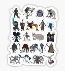 Bloodborne bosses Sticker