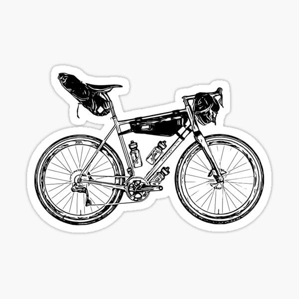 """Pack Bikepacking Plan Pedal Sticker Die Cut 5/""""x2/"""" Indoor//Outdoor Sticker"""