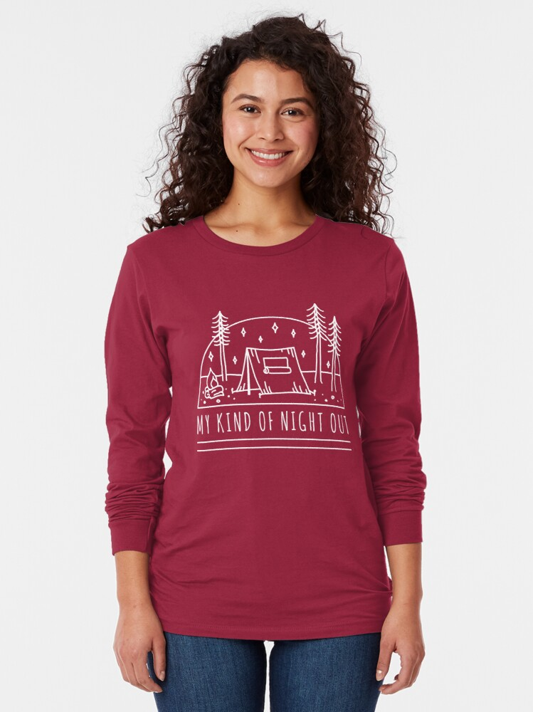 Alternate view of My Kind of Night Out (Light) Long Sleeve T-Shirt