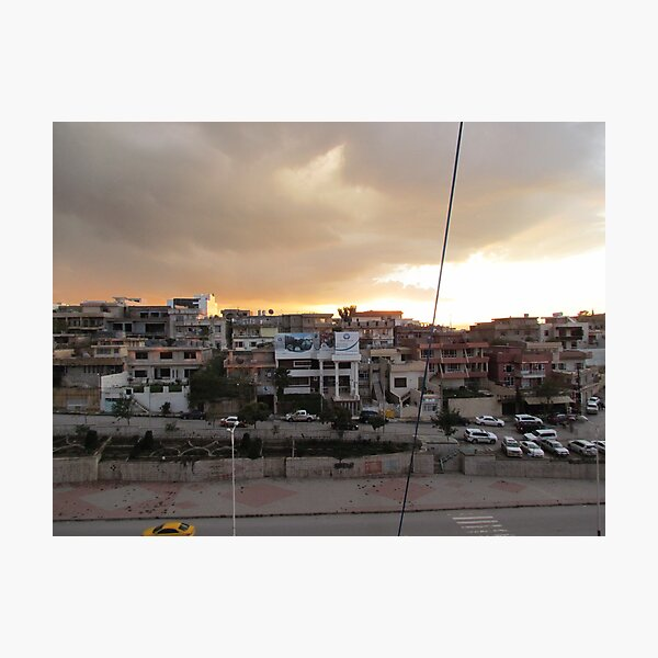 Sulamaniyah at sunset, Kurdistan Region of Iraq Photographic Print