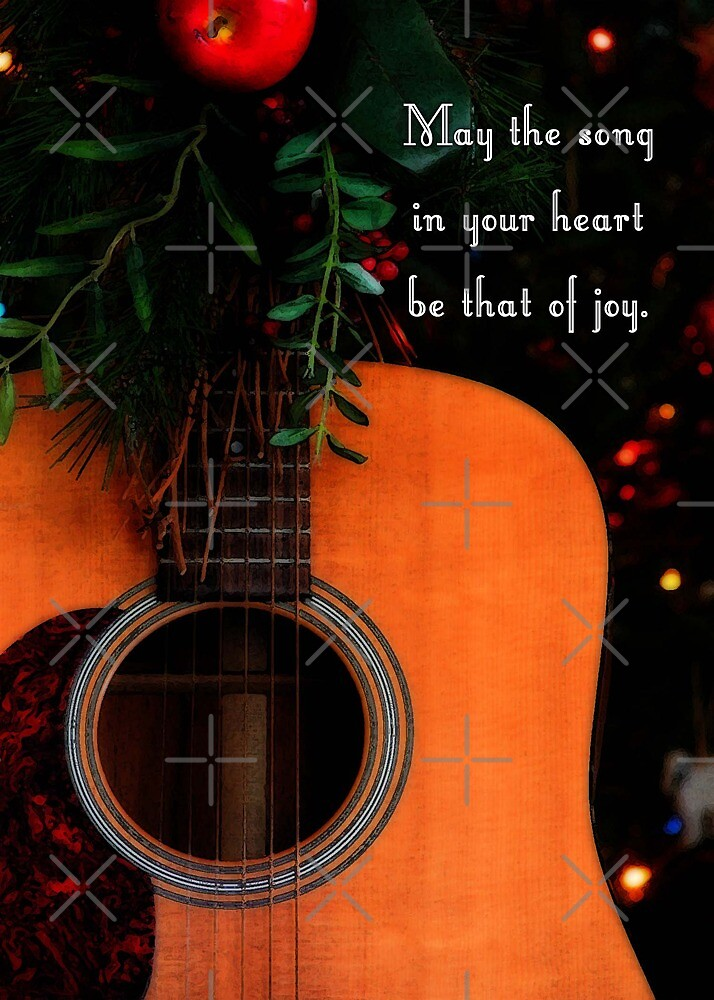 Joyful Song Acoustic Guitar Christmas Greeting by NestToNest