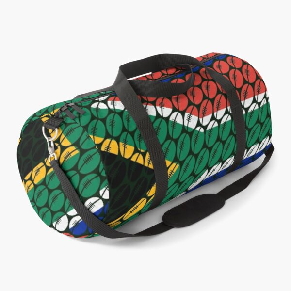 South Africa Rugby Ball Pattern Bokke  Duffle Bag