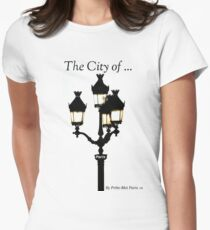 City of Lights... Prête-Moi Paris Womens Fitted T-Shirt