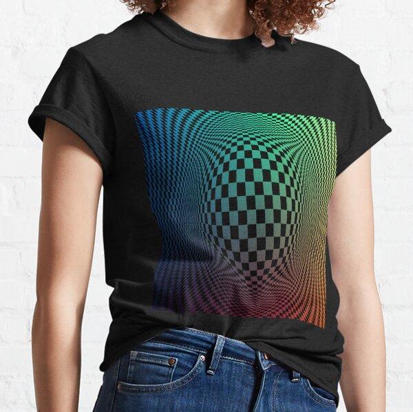 Checkerboard Op Art Classic T-Shirt