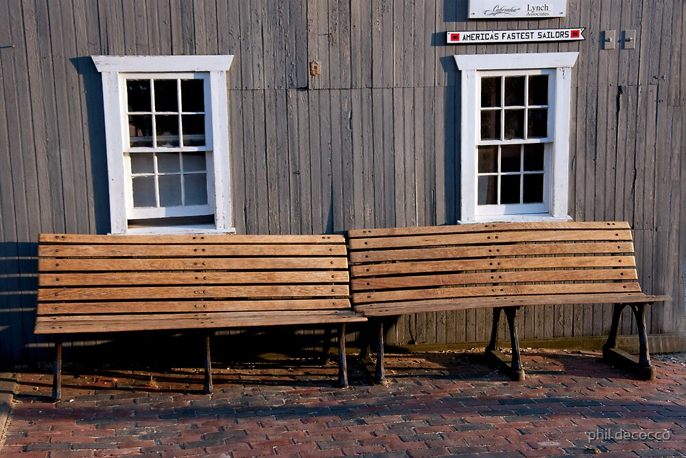 Brick Walk Benches by phil decocco