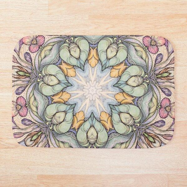 Vintage floral  pattern Bath Mat