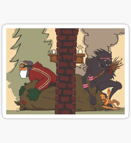 Krampus - Two Sides, No Text Sticker