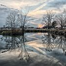 Reflections Of A Jagged Sunset by JGetsinger