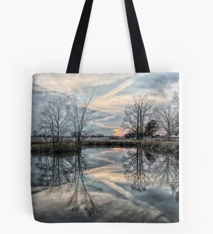 Reflections Of A Jagged Sunset Tote Bag