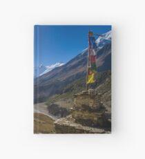 Tibetan Prayer Flags Over a Himalayan Valley Hardcover Journal