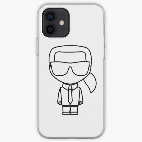Karl lagerfeld black Line - édition 2021 Coque souple iPhone