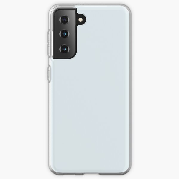 INNOCENCE - QUIETUDE LIGHT BLUE GREY - LIGHT BLUE GRAY - OVER 100 SHADES OF GREY AND SILVERS ON OZCUSHIONS Samsung Galaxy Soft Case