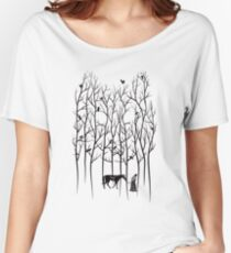 Snow and Ghost Amongst Crows Women's Relaxed Fit T-Shirt