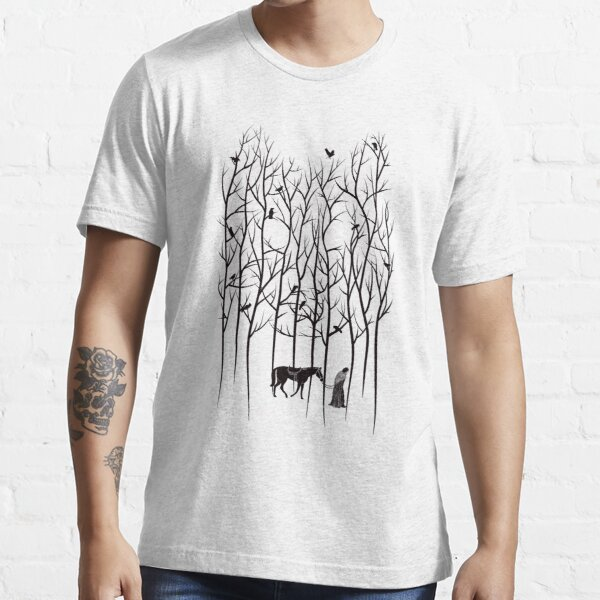 Snow and Ghost Amongst Crows Essential T-Shirt