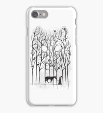 Snow and Ghost Amongst Crows iPhone Case/Skin